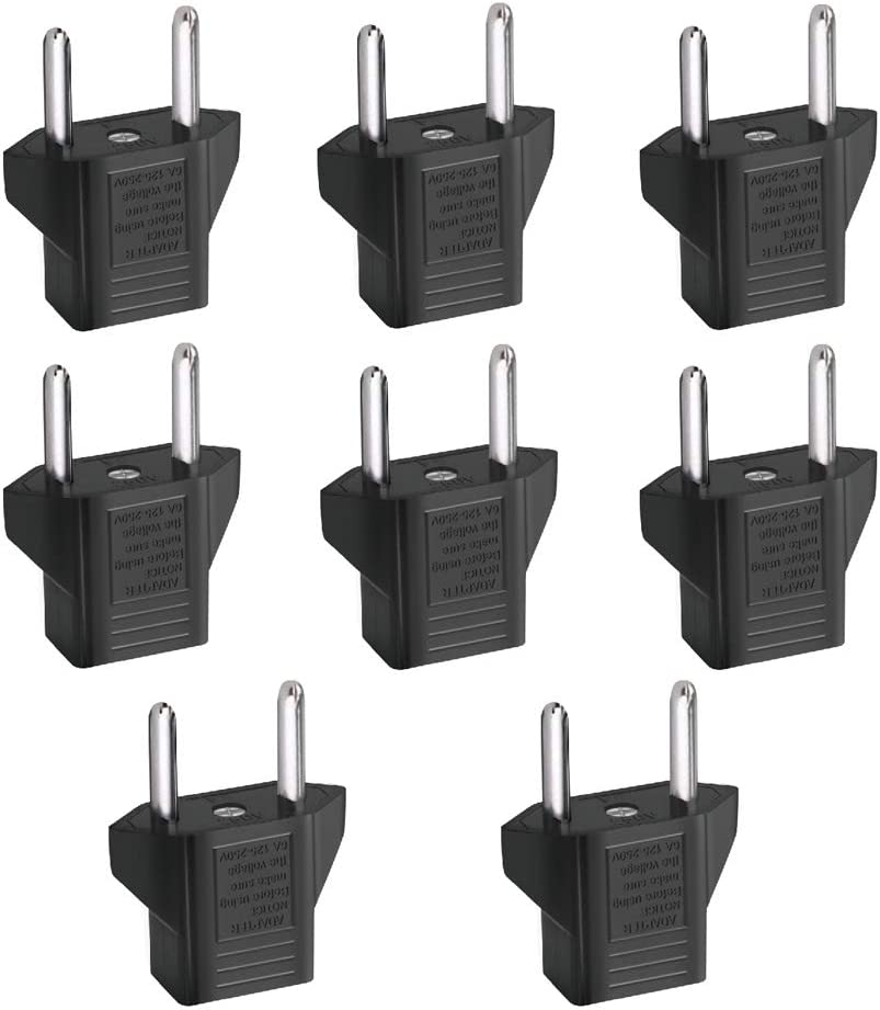 Inovat 8 PCS American USA to European Outlet Plug Adapter: Home Audio & Theater