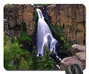 Mountain falls Mouse Pad, Mousepad (Waterfalls Mouse Pad, Watercolor style)