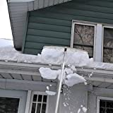 TUFFIOM Extendable Aluminum Snow Rake, 5ft-20ft
