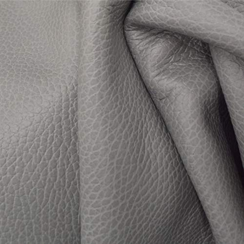 (The Leather Guy - Leather Cowhide Side 17.3 SqFt Peaceful Spirit Grey 3-3 1/2 oz Pebble Grain - 7)
