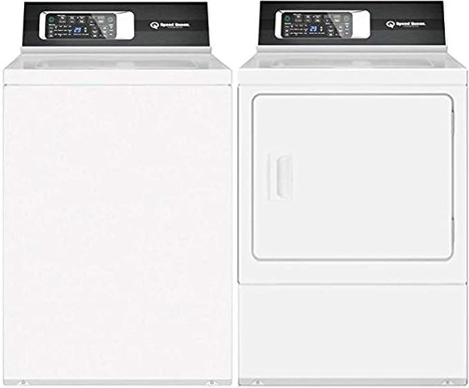 Amazon.com: Speed Queen blanco par de lavandería con ...