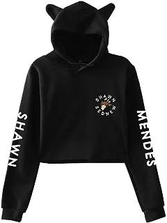 608184142 Silver Basic Unisex Long Sleeve Shawn Mendes 98 Hoodies Girls Sweatshirts  Women Cat Ear Hoodie
