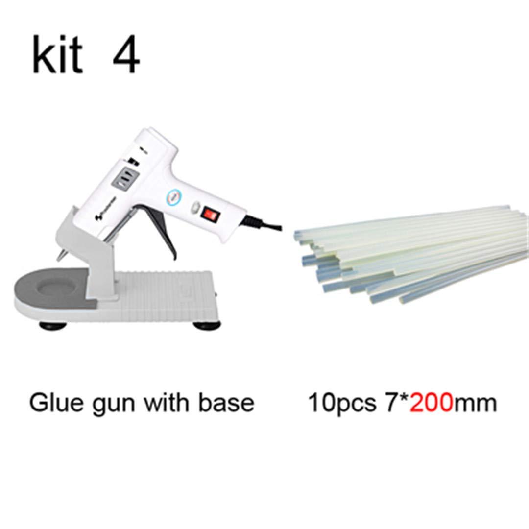 40W Hot Melt Glue Gun Glue Stick Industrial Mini Gun Professional Base Hot Temperature Tool Bracket 7Mm Set 10 white 40W AU