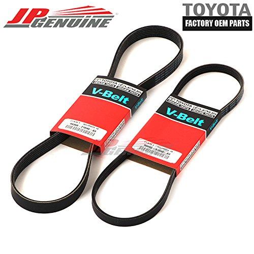 Genuine OEM Lexus 99-03 Rx300 Drive Belt Set 90080-91088-83/99366-21040-83 Toyota
