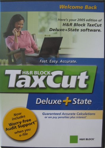 H&R Block TaxCut Deluxe + State - CD-ROM - Filing Edition for the 2005 Tax Year - For Windows 98/ME/2000/XP