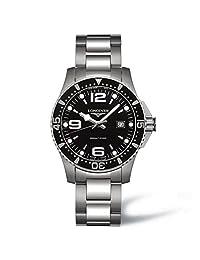 Longines Men's L3.640.4.56.6 Hydro Conquest Black Dial Watch