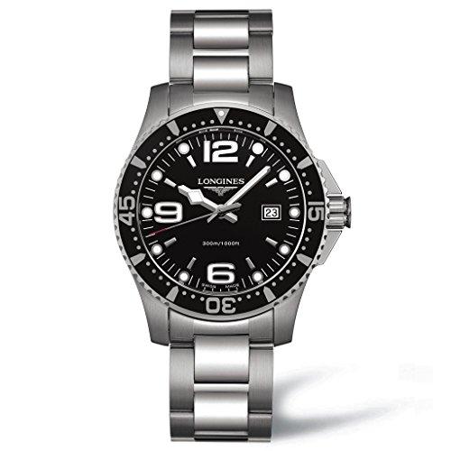 Longines Mens L3.640.4.56.6 Hydro Conquest Black Dial Watch