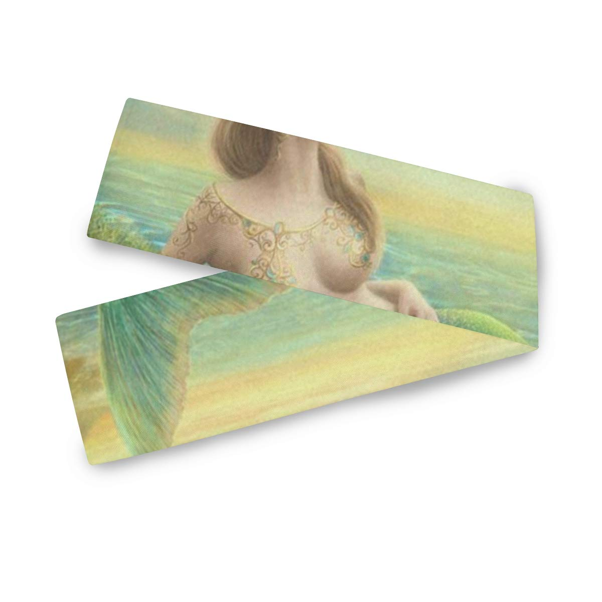 Table Runner Sea Beautiful Princess Mermaid at Sunset Home Decor Dresser Scarves Table Cloth Runner Coffee Mat for Wedding Party Banquet Decoration 13 x 70 inch