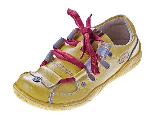 TMA Damen Sandalen Echtleder Sandaletten Halbschuhe Leder Schuhe TMA 1338 Gr. 36 - 42 Gelb