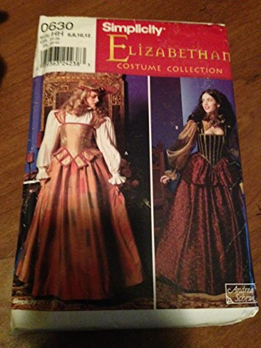[Simplicity 0630 Sewing Pattern, Elizabethan Costume Collection, Misses' Costume & Hat, Size HH] (Elizabethan Costume Patterns)