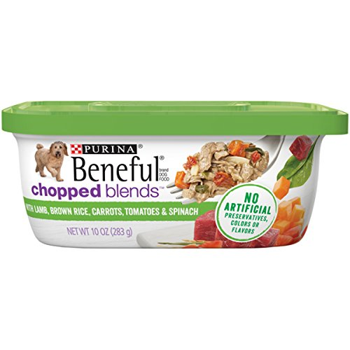 Purina Beneful Wet Dog Food; Chopped Blends With Lamb - (8) 10 oz. Tubs