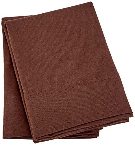 Beech Set Bed - Brielle Home Cotton-Modal from Beech Blend Jersey Knitted Pillowcase Set, Standard, Brown
