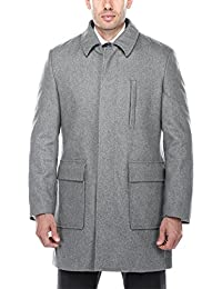 "<span class=""a-offscreen"">[Sponsored]</span>Men's Wool Blend Winter Overcoat Classic Fit Jacket Pea Coat Car Coat"