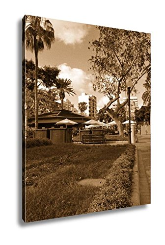 Ashley Canvas Colorful Flowers In Parque Santa Catalina Las Palmas Spain, Kitchen Bedroom Living Room Art, Sepia 30x24, AG6224194 by Ashley Canvas