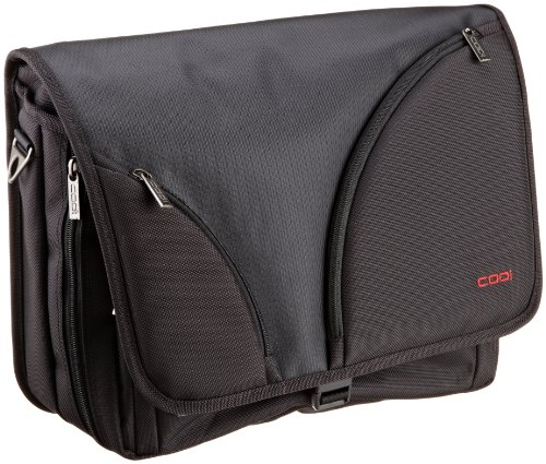 15.4in Messenger - CODi Courier Messenger Bag for 15.4-Inch Laptops, Black