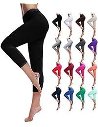 Women's Cotton Capri Cropped Leggings Pants - Variety of...