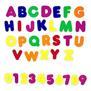 Colorful Assorted Magnetic Foam Alphabet Letters and Numbers - Back to School Educational Learning Accessories - for Classroom or Arts and Crafts - 96 Piece Set