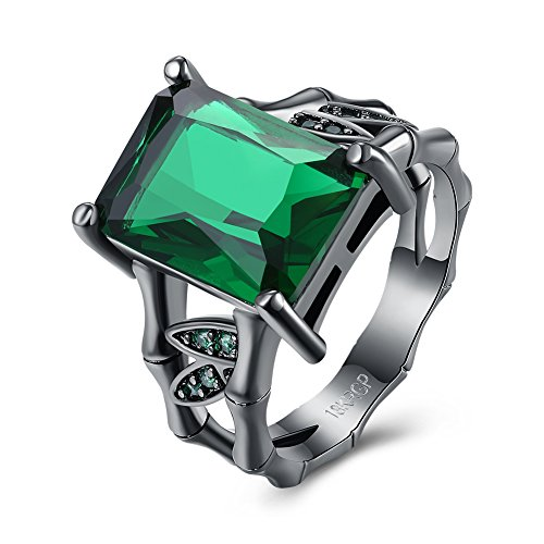 Diamondo Female Women Trendy Fashion Romantic Style Jewelry Ring (green, size 7) (Seven Of The Best Cocktails For Men)