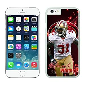 NFL iPhone 6 4.7 Inches Case San Francisco 49ers Donte Whitner White iPhone 6 Cell Phone Case HGEROVFD3868