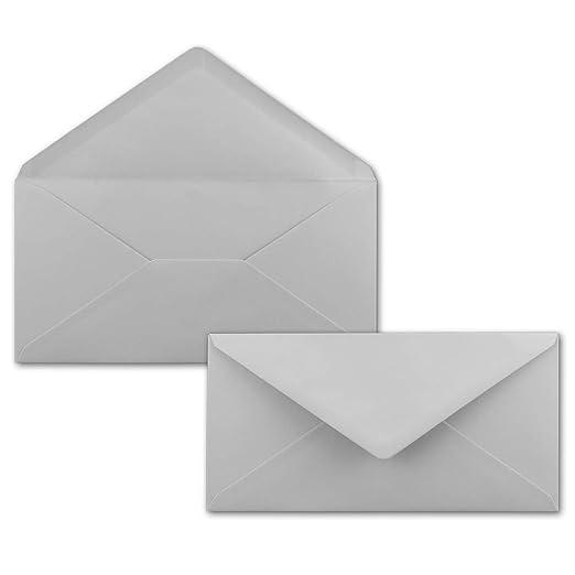 1a Qualität 120g HELL-GRAU 25 DIN C6 Briefumschläge