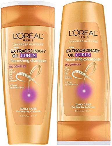 L'Oreal Paris Nourishing Shampoo Conditioner Set 12.6 Oz Extraordinary Oil (Curl Shampoo Conditioner)