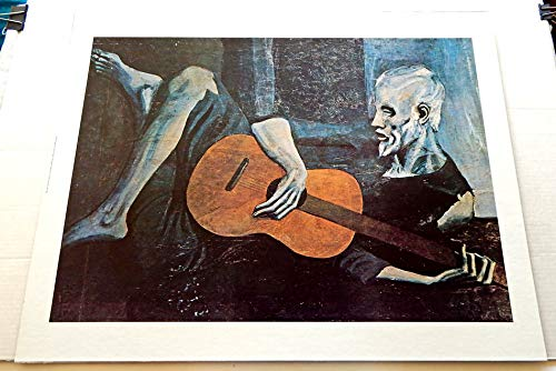 Pablo Picasso The Old Guitarist 22 Inch x 28 Inch Collectible Unframed Art Print - Grade 9.6 By The Seller - Very Rare - Reproduction On Heavy Cardstock Ready To Be Framed ()