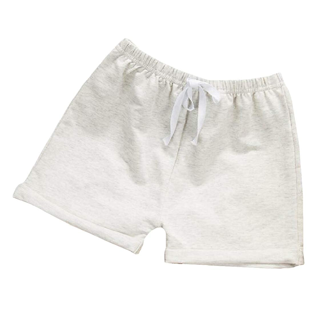 Pcutrone Girls Stretch Pure Color Cotton Sport Boys Cute Short