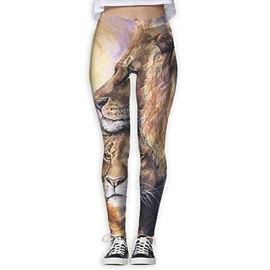 a8a2fad08a Amazon.com: Women's Power Watercolour Tiger Yoga Pants Tummy Control ...