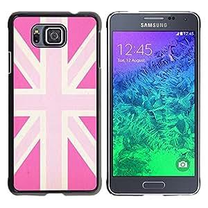 Cubierta protectora del caso de Shell Plástico || Samsung GALAXY ALPHA G850 || Gay Great Britain Flag Country @XPTECH