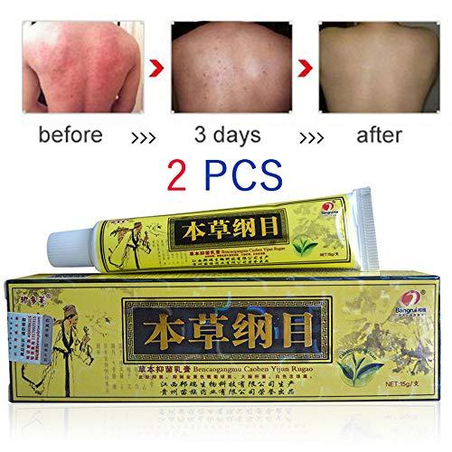 Psoriasis Cream for Dermatitis Eczema,Natural Chinese Herbal Cream Eczema Dermatitis Pruritus Psoriasis Vitiligo Ointment 2PCS/LOT
