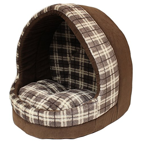Me-My-Large-Supersoft-Cat-Igloo-Brown-Check