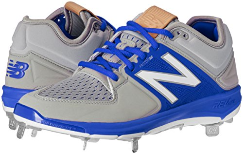 Image of the New Balance Men's L3000v3 Metal Baseball Shoe, Grey/Blue, 8.5 D US