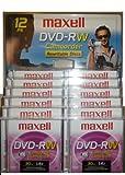 12pk maxell DVD-RW Camcorder Rewritable Discs