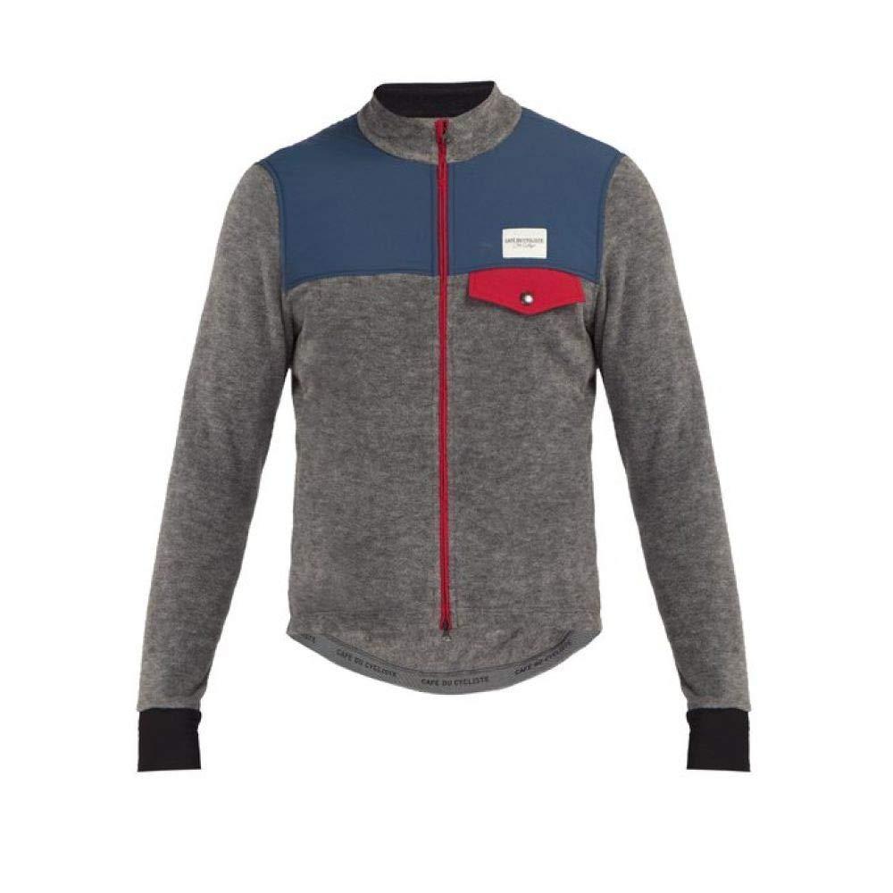 (カフェ ドゥ シクリスト) Cafe Du Cycliste メンズ 自転車 アウター Alphonsine zip-through fleece cycle jacket [並行輸入品] B07L5MJ3JG   XS(残り1個)