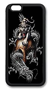 iPhone 6 Cases, Dragon And Tiger Durable Soft Slim TPU Case Cover for iPhone 6 4.7 inch Screen (Does NOT fit iPhone 5 5S 5C 4 4s or iPhone 6 Plus 5.5 inch screen) - TPU Black by mcsharks