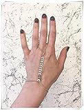 Bright Silver ,Style Hand Chain,finger Bracelet,pure handmade.