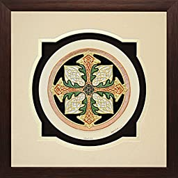 Celtic Cross of Creation - Cast Paper - Celtic Blessing - Irish art - Scottish art - Irish gift - Celtic Wheel - Ireland