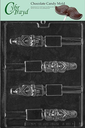 Cybrtrayd Life of the Party H111 Halloween Witch Pretzel Pop Chocolate Candy Mold in Sealed Protective Poly Bag Imprinted with Copyrighted Cybrtrayd Molding Instructions]()