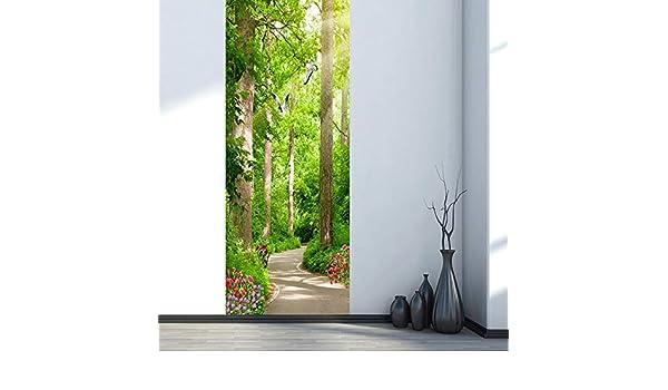 LMHWW 3D Etiqueta De La Puerta,95X215CM Paisaje De Sendero De Bosque Verde Impermeable Extraíble Murales Murales Autoadhesivos Papel Tapiz Para Puertas Interiores Puerta Del Dormitorio Casa Decoración: Amazon.es: Bricolaje y herramientas