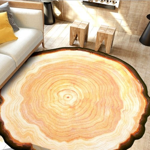 - Antique Wood Tree Annual Ring Round 3D Carpet for Bedroom Computer Chair Area Rugs Kids Bedroom Play Mat Coffee Table Mats