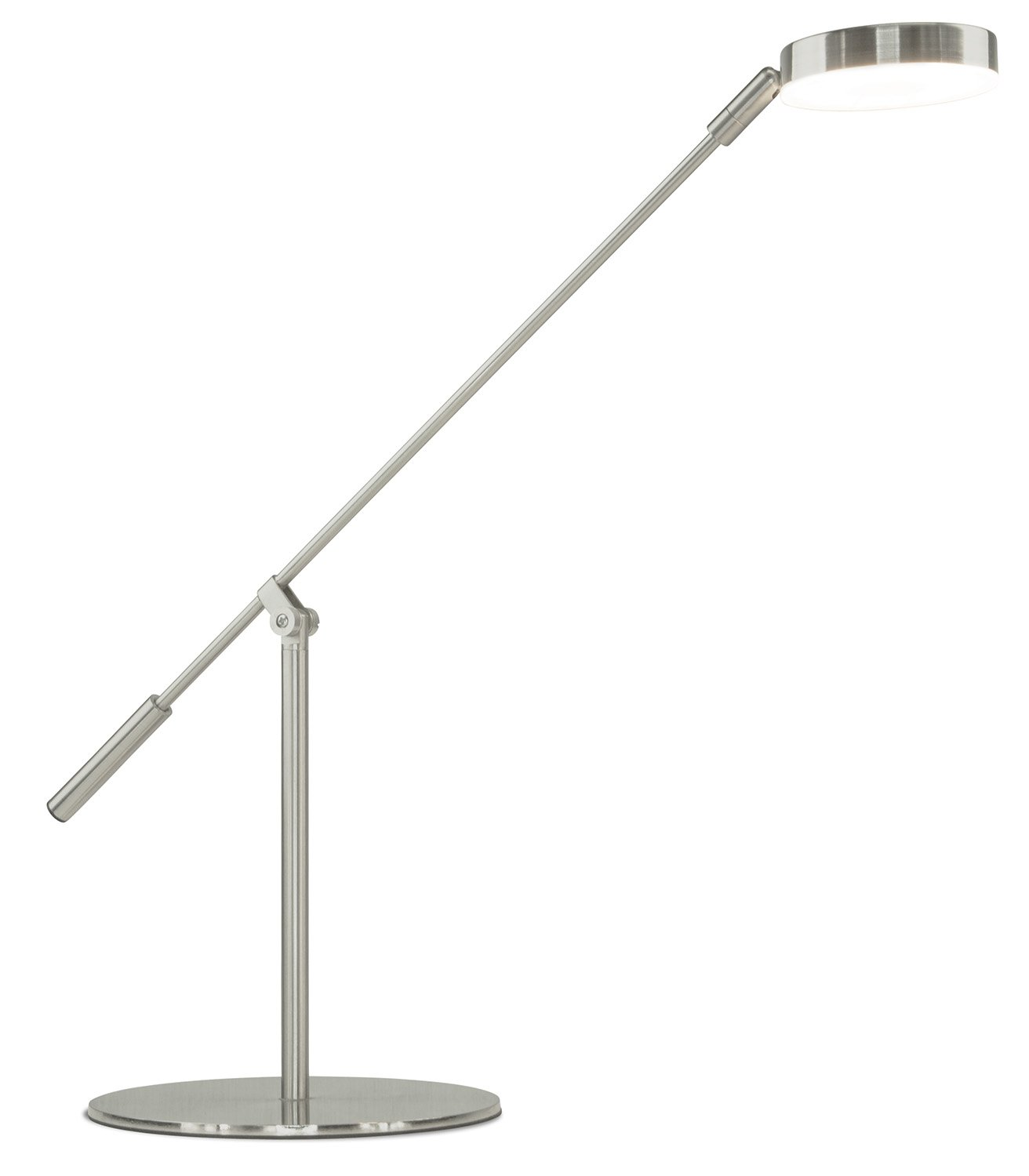 Turcom LED Desk Lamp, Energy-Efficient, Non-Flickering for Reading, Adjustable Neck, Touch-Sensitive Control Panel, 450 Lumen,Silver by Turcom (Image #1)
