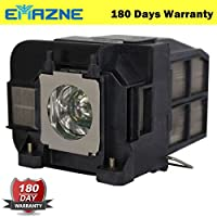 Emazne ELPLP75/V13H010L75 Projector Replacement Compatible Lamp With Housing For Epson EB 1930 Epson EB 1940W Epson EB 1945 Epson EB 1945W Epson EB 1950 Epson EB 1955 Epson EB 1960 Epson EB 1965