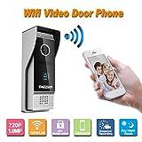TMEZON Wireless/Wired Wifi IP Video Door Phone Doorbell Intercom Entry System 720P 1.0MP Camera Night Vision,Support Remote unlocking,Recording,Snapshot