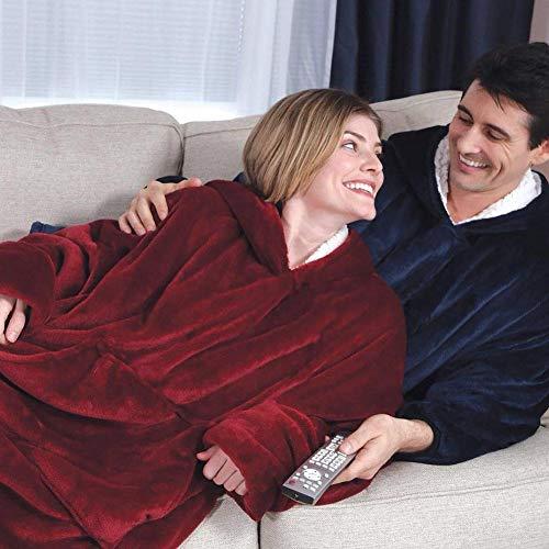 Femmes À Rouge Manteaux Househome Chaude Plush Télévision couverture Pyjamas Taille Ultra D'hiver Et Polaire Avec Unique Capuche La Hommes Douce Vus pxpOqT6nR