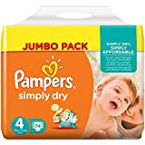 Pampers - Simply dry midi 7 - 18kg, pack de 2 (2 x 74 unidades)