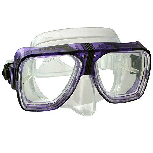 Different Optical Corrective Lens on Each Side Snorkel Mask, Trans. Purple ()