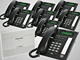 New Panasonic KX-TA824 + 8 New Panasonic KX-T7730 Black Phones