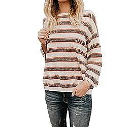 Uribake Womens Long Sleeve Fashion Blouse Fashion Knitting Plus Size Ladies T Shirt Blouse Tops Tees Shirts