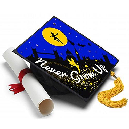 Tassel Toppers Peter Pan - Grad Cap Never Grow Up - Decorated Grad Caps