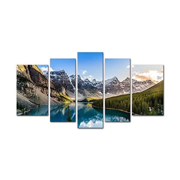 Art print POSTER CANVAS Moraine Lake and the Rocky Mountains